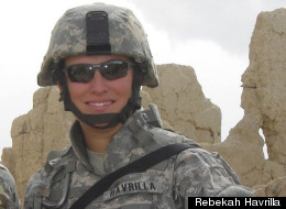 Rebekah Havrilla, 30, an Army Explosive Ordnance Disposal (EOD) specialist, on a humanitarian mission in Afghanistan.