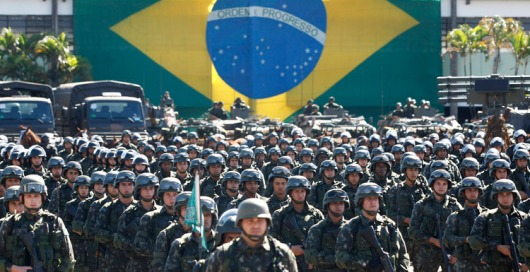 Brazilian Troops At Command Performance